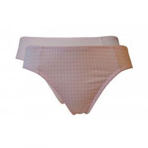 Lot de 2 slips femme coton bio rose
