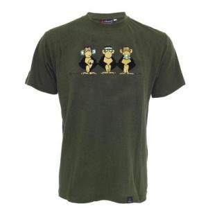 Tee shirt chanvre et coton bio noir les 3 singes sages