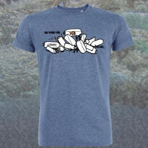 Tee shirt bleu coton bio fish
