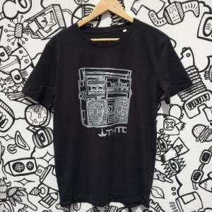 Tee shirt chanvre et coton bio noir Musique vintage