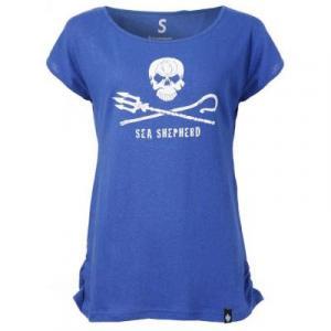 Tee shirt bleu en chanvre femme Sea Shepherd