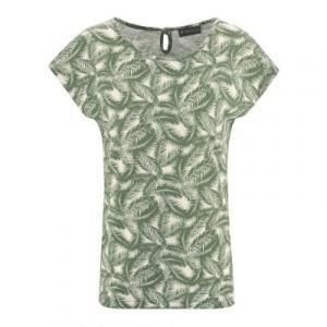 t-shirt chanvre coton bio imprimé feuilles de palmier