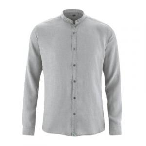 Chemise bio manches longues col mao