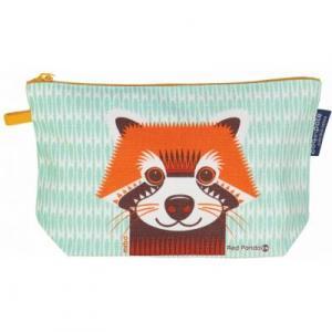 Trousse coton bio Panda roux