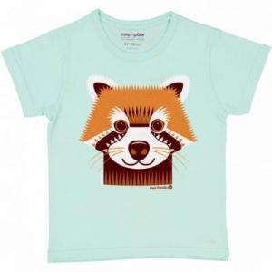 T-shirt coton bio panda roux