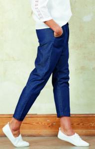 Pantalon 7-8e en tissu léger