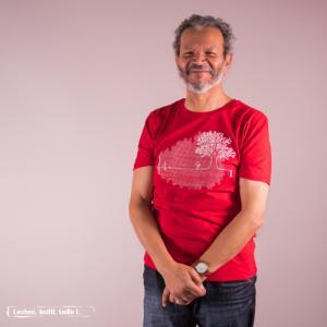 """T-shirt bio équitable DOUALA """"Ligne de Vie"""""""