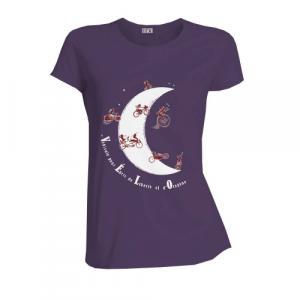 """T-shirt équitable coton bio JALNA """"Vélo Lune"""""""