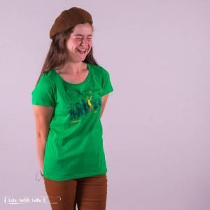 """T-shirt équitable coton bio JALNA """"Be different"""""""