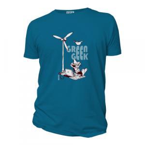 "T-shirt bio équitable DOUALA ""Green Geek"""