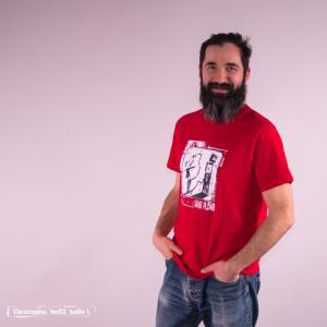 """T-shirt bio équitable DOUALA """"Sans plomb"""""""