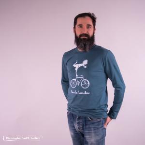 "T shirt coton bio équitable DAKAR ""Vélo"""