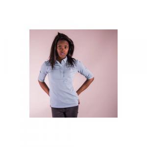 Polo-shirt bio équitable SHANGAI  Logo Quat'rues