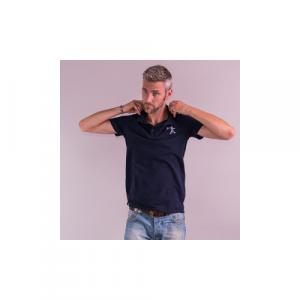 Polo-shirt coton bio équitable STOCKHOLM  Logo Quat'rues