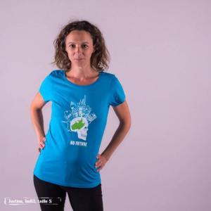 """T-shirt équitable coton bio JALNA """"No future"""""""