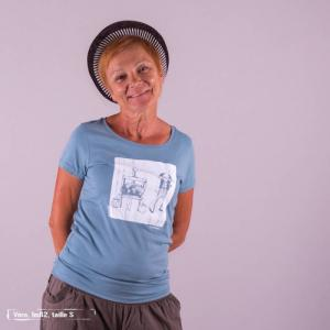 """T-shirt équitable coton bio JALNA """"Ô pression"""""""