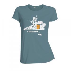 """T-shirt équitable coton bio JALNA """"Escalier social"""""""