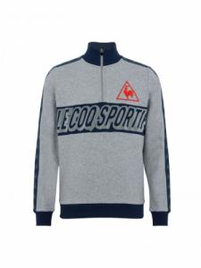Tri Lf Football Zippé - Light Heather - Le coq sportif