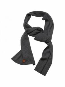Scarf organic wool - Dark grey melange - Knowledge Cotton Apparel