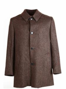 Heavey wool - Brown - black herringbone - La Paz