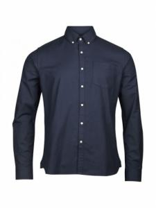 Stretched oxford shirt - Total eclipse - Knowledge cotton apparel