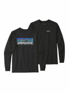 P-6 Logo Responsibili-tee LS - Black - Patagonia
