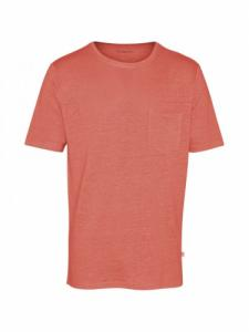 Single Jersey Linen - Spiced Coral - knowledge Cotton Apparel