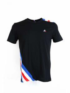 Tri tee SS N°10 - Black n.o.w cobal - Le coq sportif