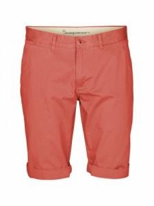 Twisted twill shorts - Spiced coral - Knowledge cotton apparel