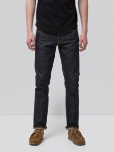Jean droit brut selvedge en coton bio - grim tim dry selvage - Nudie Jeans