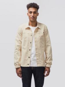 Veste en velours écru en coton bio - ronny - Nudie Jeans