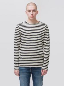 T-shirt manches longues rayé en coton bio - orvar - Nudie Jeans