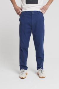 Pantalon bleu en coton bio -blue marcel