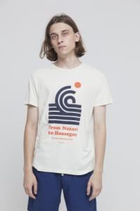 T-shirt imprimé blanc en coton bio - 1000 km to surf - Thinking Mu