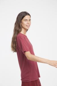 T-shirt en chanvre rouge - Thinking Mu