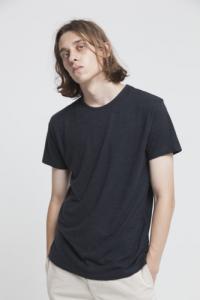 T-shirt uni noir en coton bio - Thinking Mu
