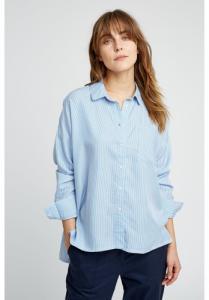 Chemise rayée bleu ciel en tencel - alice