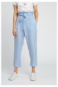 Pantalon rayé bleu ciel en tencel - suki