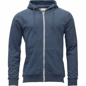 Veste zippée bleue en coton bio - Knowledge Cotton Apparel