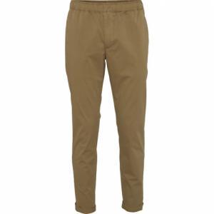 Pantalon beige foncé en coton bio - loose pant - Knowledge Cotton Apparel