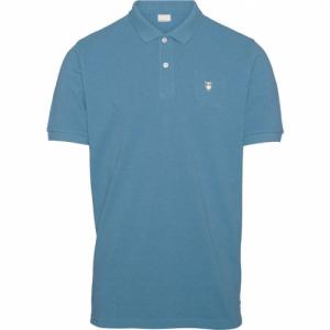 Polo bleu clair en coton bio - pique polo - Knowledge Cotton Apparel