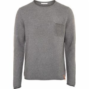 Pull fin gris en coton bio