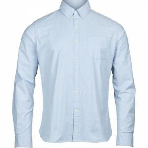 Chemise bleu ciel en coton bio - stretched oxford - Knowledge Cotton Apparel