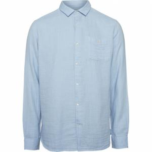 Chemise unie bleu ciel en coton bio - Knowledge Cotton Apparel