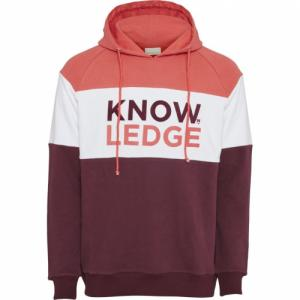 Hoodie imprimé bordeaux et blanc en coton bio - Knowledge Cotton Apparel