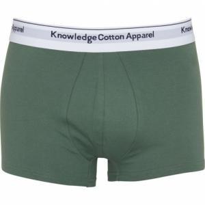 Pack boxers unis vert et bleu en coton bio