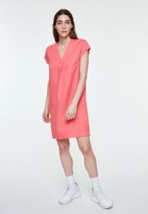 Robe col v rose en tencel - lenkaa