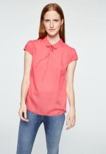 Blouse col claudine rose en tencel - elinaa