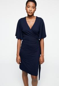 Robe bleu marine en lenzing - monaa