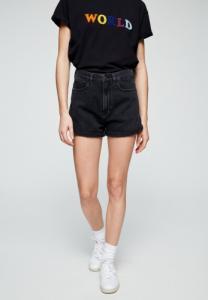 Short en jean noir en coton bio - silvaa